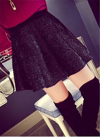 sweater burgundy maroon long sleeve sweater long sleeve sweater burgundy sweater skirt black sequin skirt short skirt black skirt sequin skirt sparkle skirt black sparkle skirt