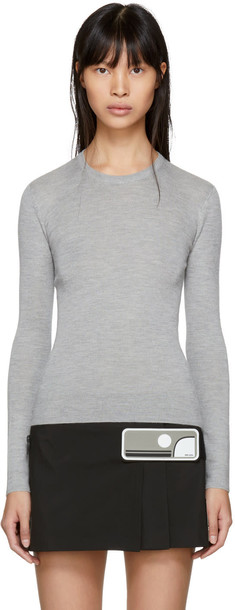 pullover grey sweater