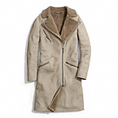 Coach :: LONG SHEARLING MOTO COAT