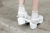 shoes,white shoes,plastic,white,high heels,sandals