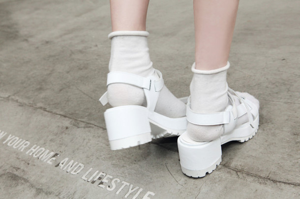 shoes white shoes plastic white high heels sandals