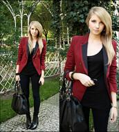 red jacket,burgundy jacket,jacket