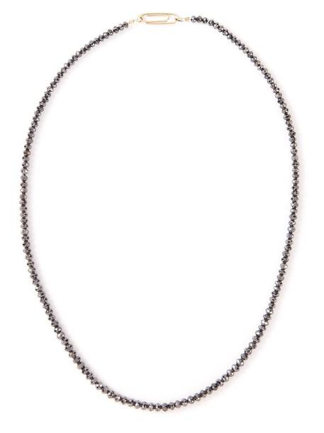 women princess necklace gold black jewels