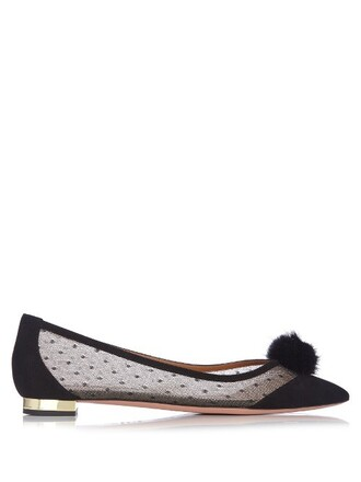 baby flats suede black shoes