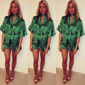 romper,steal her look,silky romper,cute playsuits,sexy playsuits,fblogger,satin dress,holiday dress,blogger,blogger chic,blogger style,festival