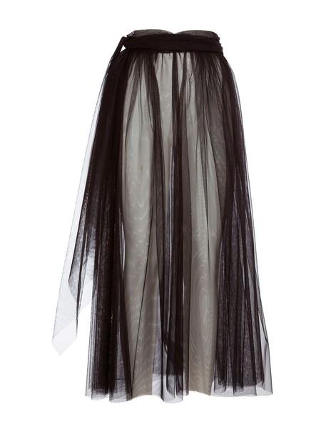 MSGM skirt pleated skirt pleated black