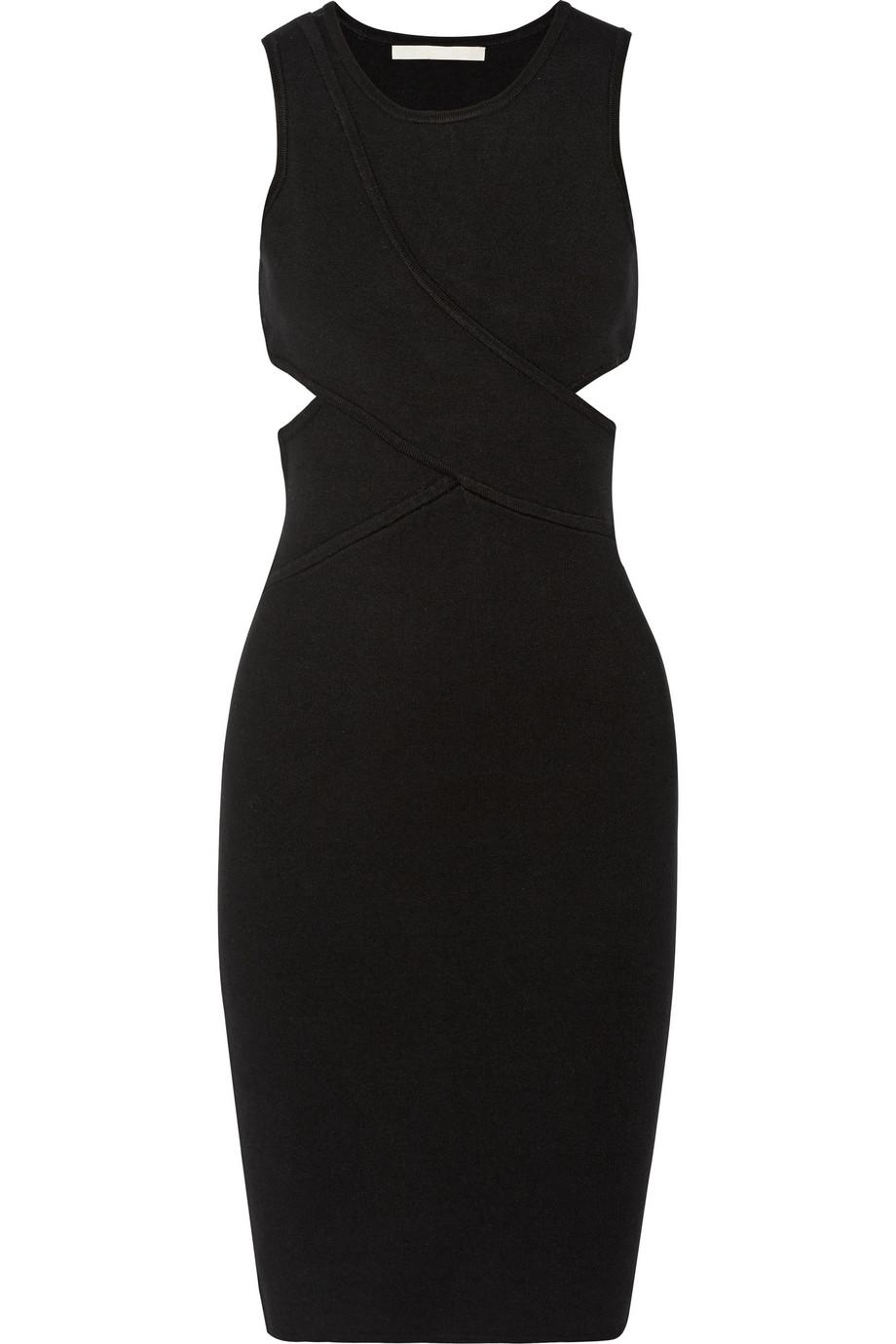 Jonathan Simkhai Harness cutout stretch-knit dress – 50% at THE OUTNET.COM