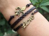 jewels,bracelets,love,love bracelet,octopus,brown,leather,leather bracelet,antique bracelet,handmade,diy,jewelry