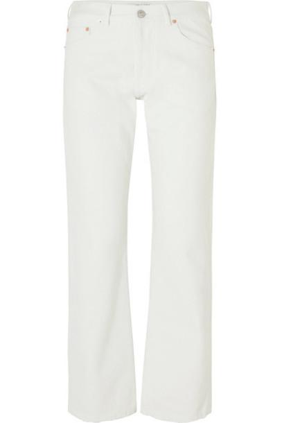 Balenciaga jeans high white