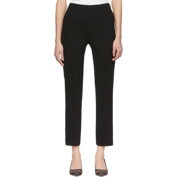 Fendi Black Crepe Cropped Trousers