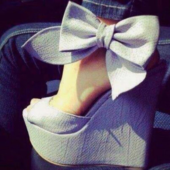 bow shoes talons compensés