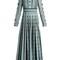 Bead-embellished pleated silk dress