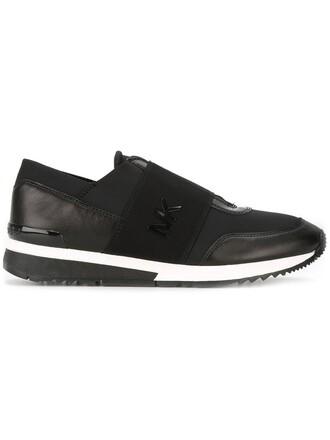 women sneakers leather black neoprene shoes