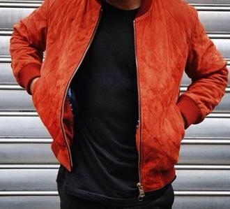 jacket menswear orange mens jacket quilted rust