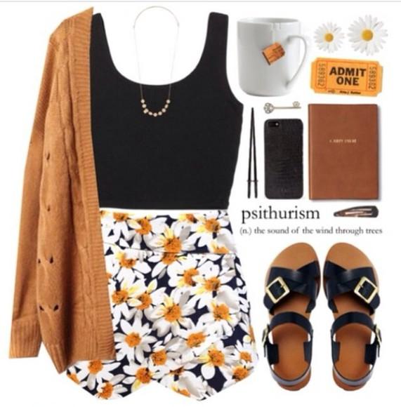 daisy sunflower skirt indie dope hipster floral instagram