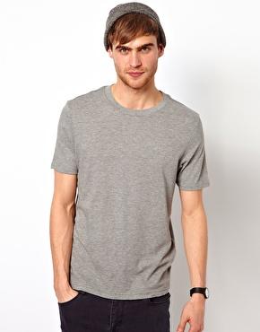 River Island | River Island Basic T-Shirt in Grey at ASOS