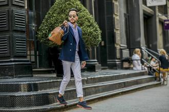 the metro man blogger mens blazer menswear mens holdall