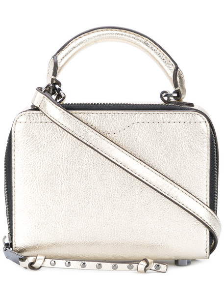 mini women leather grey metallic bag
