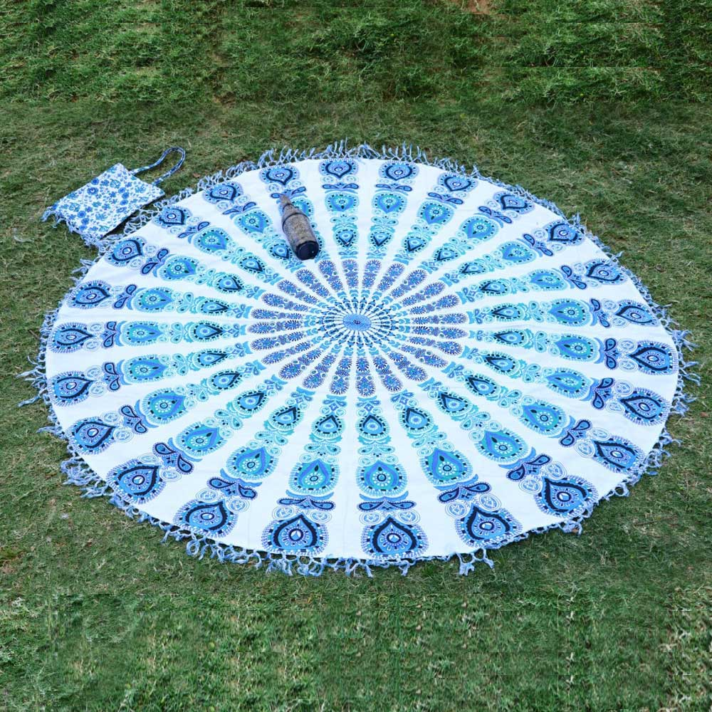 Indian Mandala Roundie Beach Throw Tablecloth Tapestry