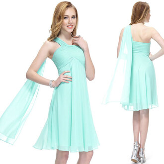 dress one shoulder dress short bridesmaid dress mint green bridesmaid dress sexy bridesmaid dress one shoulder bridesmaid dress cheap prom dress 2014 long party dresses for women