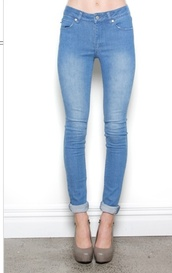 jeans,denim,ankle biters,blue,washed out,cuff,federation,female