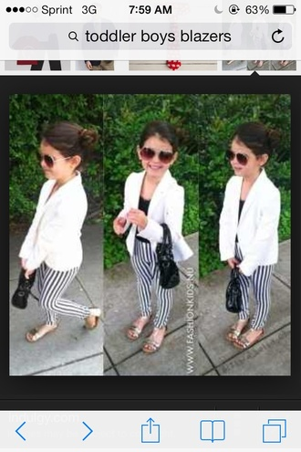 jacket white blazer white blazer stripe pants daughter