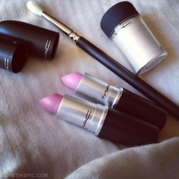 make-up mac cosmetics mac lipstick pink lipstick