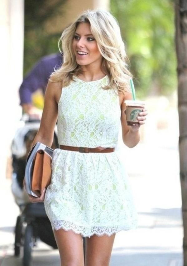 dress clothes dress white dress white lace summer dress