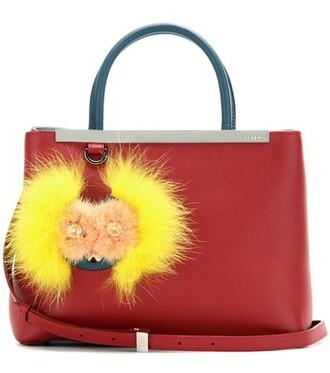 embellished leather red bag