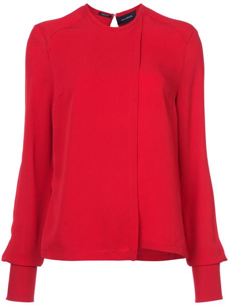 Yigal Azrouel blouse women silk red top