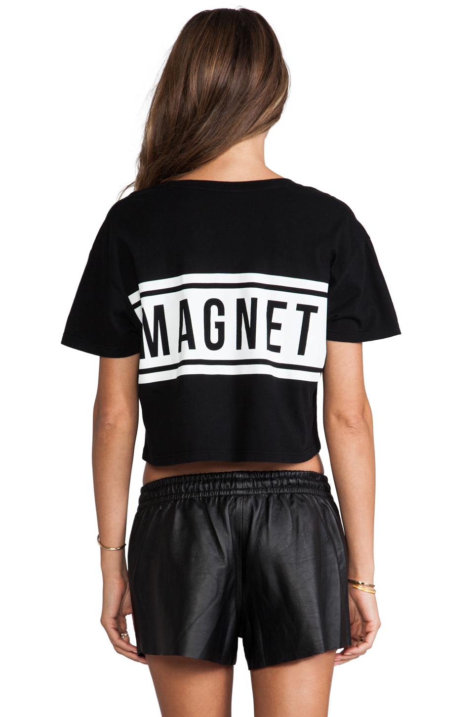 Lovers   Friends Babe Magnet Cropped Tee in Black | REVOLVE