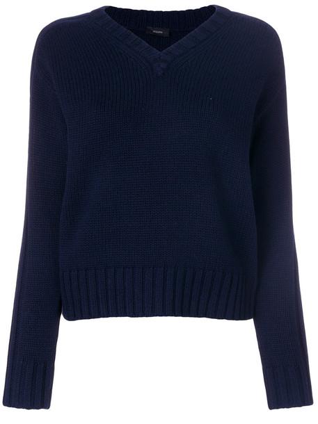 Joseph jumper women blue wool sweater