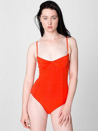 Cotton Spandex Jersey Bra Bodysuit | American Apparel