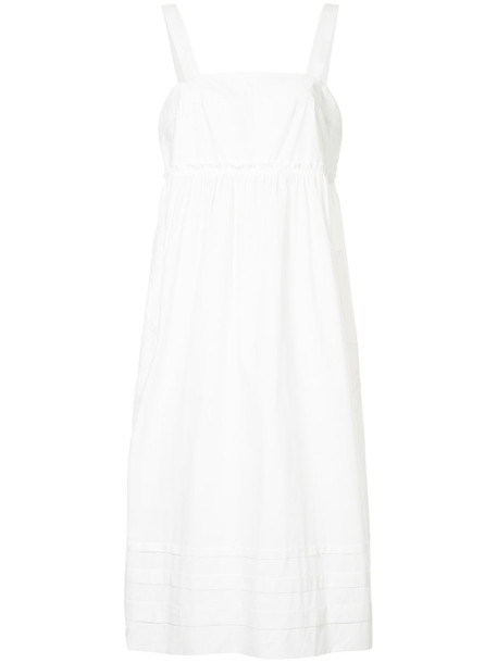 Lee Mathews dress women white cotton