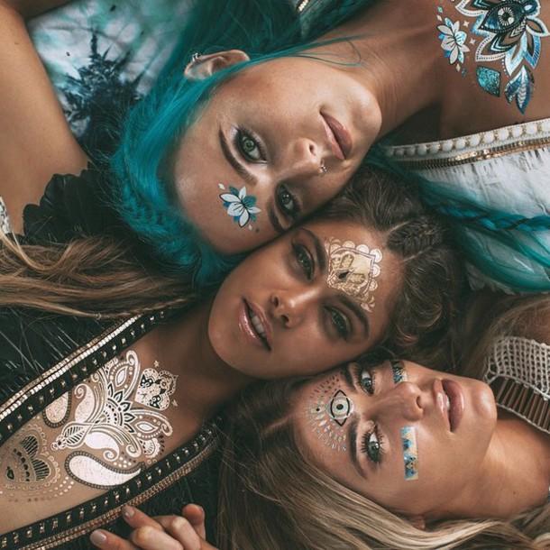 Jewels: glad tattoo, metallic tattoos, summer, cute ...