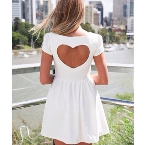 dress white heart cut white hearts classic