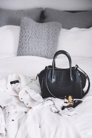 classy bag black handbag handbag crocodile black