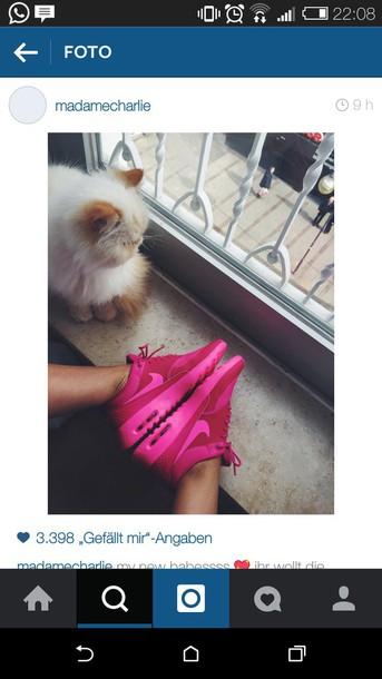 shoes nike shoes nike air max thea nike pink