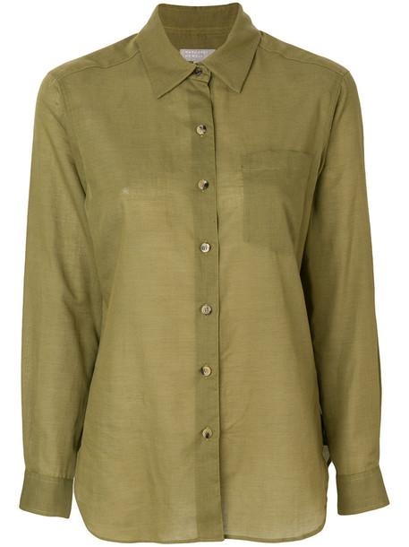 Margaret Howell shirt women classic cotton green top