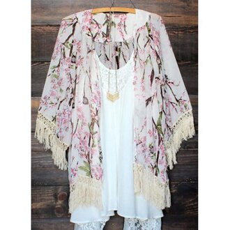 cardigan kimono floral festival girly fashion style summer outfit