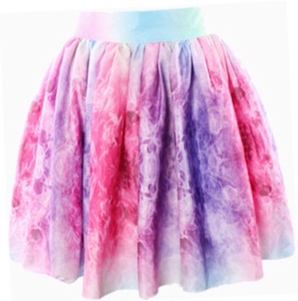 skirt skater skirt pink galaxy print high waisted cute purple multicolor