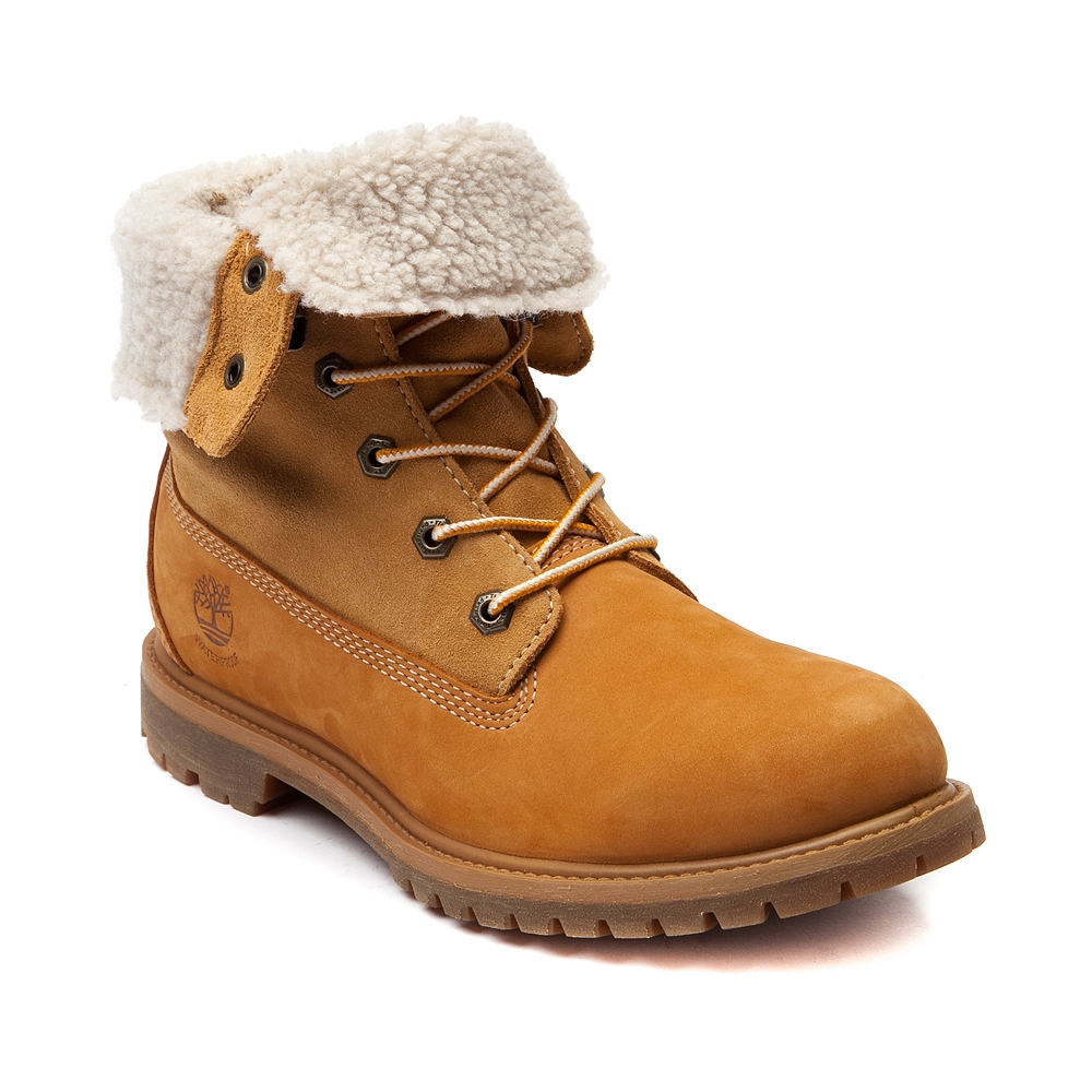 Womens Timberland Fleece Boot in Tan   Shi by Journeys