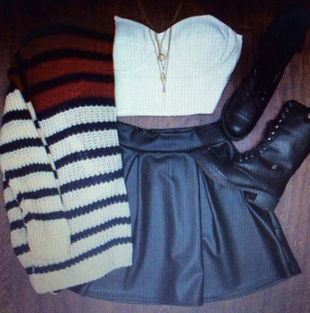 cardigan skirt top outfit