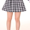 Glitters for dinner — made to order - black checkered pleated skirt by gfd