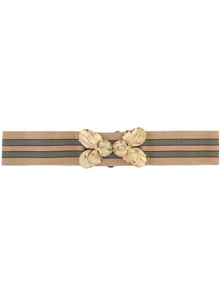 No21 women spandex belt wool brown