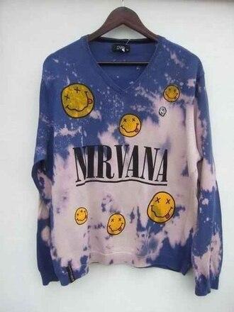 sweater t-shirt hoodie music nirvana