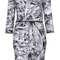 Foil print zip bodycon dress - dresses  - clothing  - topshop