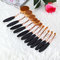 11pcs oval toothbrush brushes set powder eyebrow makeup foundation concealer eye shadow blush brush