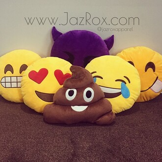 home accessory jazrox emoji pillow fashion summer poop emoji pillow emoji print cool trendy tumblr girly