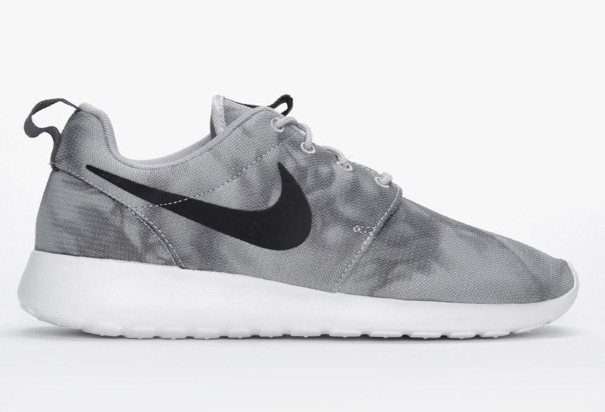 various colors c3b63 7c37e NIKE 2014 MEN ROSHERUN PRINT WOLF GREY WHITE Tie Dye 511881-011 roshe run  marble